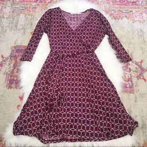 41 Hawthorn Stitch Fix Maroon Faux Wrap Dress